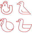 Poultry icons vector image vector image