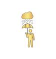 Rainy computer symbol vector image vector image