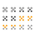 rating five star icon set vector image vector image