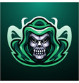 reaper skull head mascot logo vector image