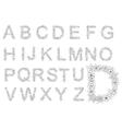 Retro floral romantic font letters vector image vector image