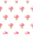 seamless pattern with abstract cartoon mushrooms vector image