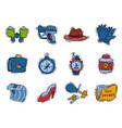 spy icons cartoon detective set mafia agent vector image vector image