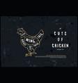 stock chicken cuts diagram vector image vector image