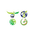 sustainable global food farming garden delivery vector image
