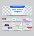 templates horizontal white modern web banners vector image vector image