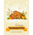 Thanksgiving day Greeting card poster vector image
