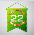 twenty two years anniversary celebration design vector image