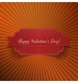 Valentines Day realistic red greeting Banner vector image