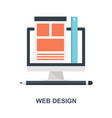 web design icon concept vector image
