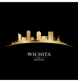 Wichita Kansas city skyline silhouette vector image vector image