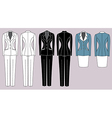 Womens suits vector image vector image