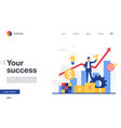 your success business landing page winner vector image