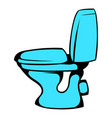 blue toilet icon cartoon vector image