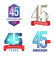 45 Years Anniversary Symbol vector image vector image