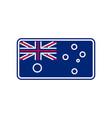 australia flag linear style sign australian vector image