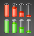 batteries with different level charge vector image