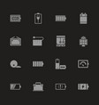 battery - flat icons vector image vector image