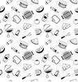 bbq icons seamless pattern background barbecue vector image vector image
