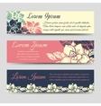 Boho floral banners design set vector image