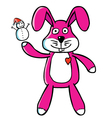 Bunny puppet vector image vector image