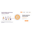 business people team pulling rope bitcoin crypto vector image vector image