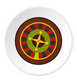 Casino gambling roulette icon circle