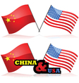 China and the USA vector image vector image