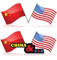 china and usa vector image vector image
