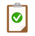 clipboard document resume with checklist icon vector image vector image