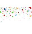 colorful confetti celebration carnival falling vector image vector image