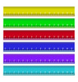 colorful rulers millimeters vector image