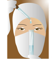 doctor with test tube vector image