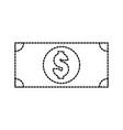 dollar banknote money cash icon vector image
