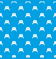 earflap hat pattern seamless blue vector image vector image