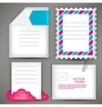 Empty white paper notes Icon for mail vector image
