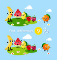 finding differences children activity game happy vector image