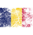 Flag of Chad with old texture vector image vector image