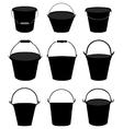garden buckets vector image vector image
