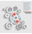 gears info vector image