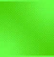 Green retro halftone dot pattern background vector image