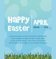 happy easter egg celebration poster vector image