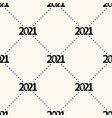 happy new year 2021 seamless pattern with polka vector image