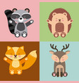 icons set cute animals vector image vector image