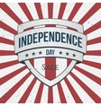 Independence Day Sale Holiday Shield vector image