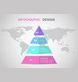 infographic design template with triangle vector image vector image