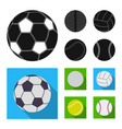 isolated object of sport and ball sign collection vector image vector image