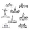 landmarks vector image vector image