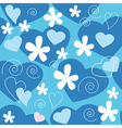 Love design pattern vector image vector image