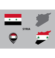 Map of Syria and symbol vector image vector image